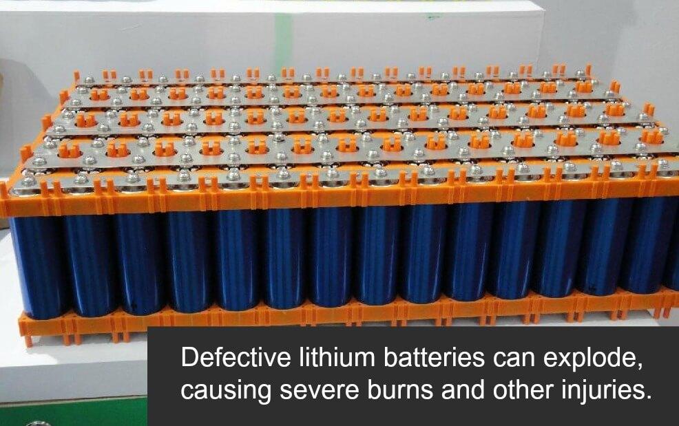 defective lithium batteries