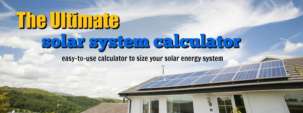 Simple Solar Calculator
