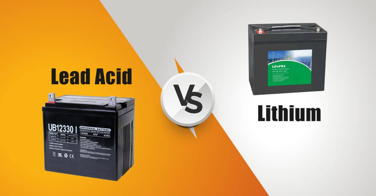 lead acid vs. lithium batteries